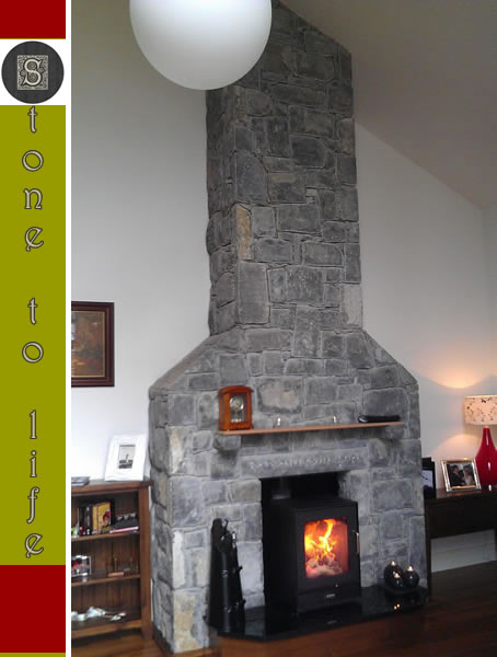 Fireplace.2 Stone Limestone Fireplace