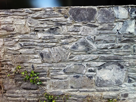 Restoration Lime Mortar. Stone Wall. Ranelagh